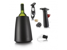 Set de Vinos (Bomba, Descorchador Twist y Active Cooler negro)